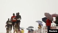 Geoffrey Kipsang en tête du peloton (Reuters)