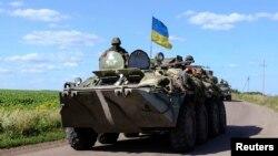 Ukrajinske oružane snage na kontrolnom punktu u blizini Slavjanska