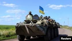 烏克蘭軍隊在東部巡邏