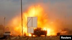 Sebuah bom mobil meledak di lokasi kampanye organisasi politic Syiah di Baghdad, Irak (25/4).