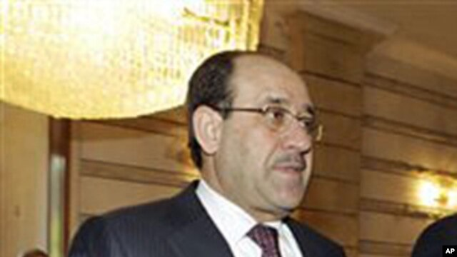 Iraqi Prime Minister Nouri al-Maliki (file photo – January 13, 2011)