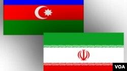 Azərbaycan və İran bayraqları