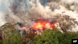 Núi lửa Kilauea, bang Hawaii.