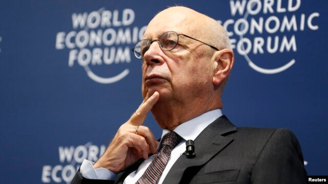 World Economic Forum (WEF) Executive Chairman and founder Klaus Schwab attends a news conference in Cologny, near Geneva, Jan. 13, 2016.