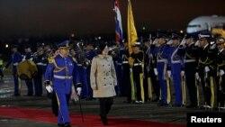 巴拉圭在蔡英文抵達機場後以軍禮迎接