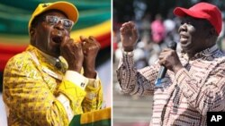 President Robert Mugabe and MDC-T Leader Morgan Tsvangirai