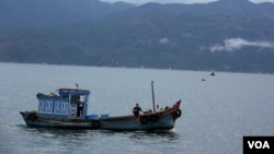 Ảnh minh họa: Tàu đánh cá của ngư dân Việt Nam ở Vịnh Cam Ranh.