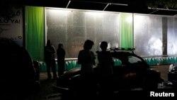 29일 멕시코 멕시코 시티에서 규모 6.3의 지진이 발생한 가운데, 시민들이 거리로 뛰쳐나왔다.