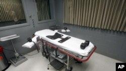 Phòng thi hành án tử hình bằng cách tiêm thuốc độc tại nhà tù ở Salem, bang Oregon