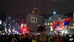 """Sedmi skup """"Jedan od pet miliona"""" protiv vlasti u Srbiji, u Beogradu, 19. januara 2019."""