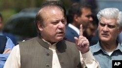Nawaz Sharif, alors premier ministre, le 15 juin 2017.