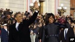 Le Président Barack Obama et la Prémière Dame Michelle Obama, 21 jan., 2013.