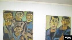 Работы Евгении Голант на выставке «Мигранты» в Еврейском общинном центре Санкт-Петербурга