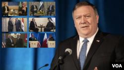 وزیر خارجه آمریکا در این سفر با رهبران و مقامات برخی از کشورهای خاورمیانه دیدار کرد.