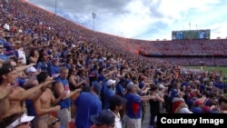 The University of Florida's football stadium holds nearly 90,000 people.