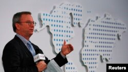 """Google Executive Chairman Eric Schmidt presents """"Connecting with the World: Empowering Young Entrepreneurs for the New Digital Age,"""" Chinese University of Hong Kong, Nov. 4, 2013."""