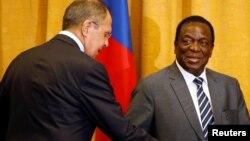 Сергей Лавров и президент Зимбабве Эммерсон Мнангагва