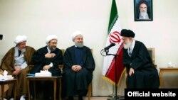 خامنهای حسن روحانی صادق لاریجانی