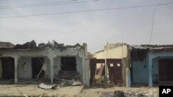 Des maisons détruites au nord du Nigéria.