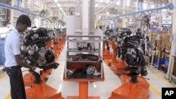 福特汽车公司在印度南部的一家工厂(资料照片)