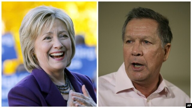 Democrat Hillary Clinton and Republican John Kasich have won The New York Times' endorsement for their parties' nominations in the 2016 presidential campaign.