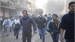 معترضان مصری در میدان تحریر. ۲۳ نوامبر ۲۰۱۱