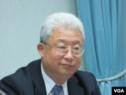 台湾电力公司总经理朱文成(美国之音张永泰拍摄)