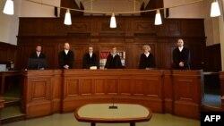 Phiên tòa xét xử ông Long N.H., người Czech gốc Việt, ngày 24/4/2018, Berlin, Đức.