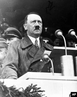 German Chancellor Adolf Hitler during his address in Berlin, May 1, 1936.