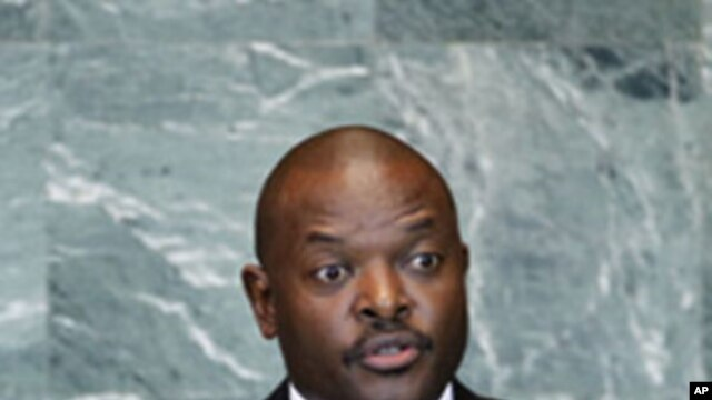 President Pierre Nkurunziza of Burundi addresses the 66th session of the United Nations General Assembly at U.N. headquarters, Sept. 23, 2011.