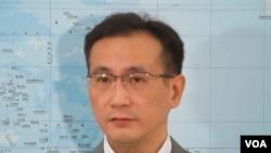 台灣民進黨立法委員鄭運鵬(美國之音張永泰攝)