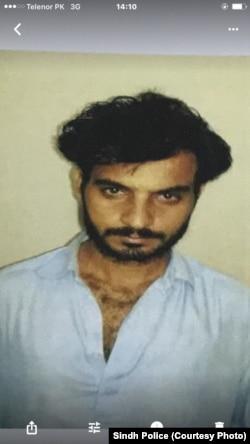 پولیس کی جانب سے جاری کی جانے والی ملزم کی تصویر