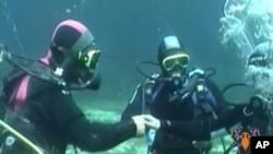 Венчавка под вода