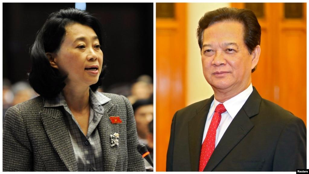 Cựu đại biểu Quốc hội Việt Nam Đặng Thị Hoàng Yến và Cựu Thủ tướng Việt Nam Nguyễn Tấn Dũng.