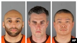 George Floyd ေသဆုံးမႈနဲ႔ဆက္ႏြယ္ၿပီး ဖမ္း၀ရမ္းထုတ္ခံထားရတဲ့ ရဲအရာရွိ ၃ ဦး