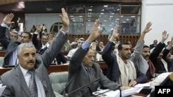 Ðại biểu Quốc hội biểu quyết miễn tố Tổng thống Ali Abdullah Saleh ngày 21 tháng 1, 2012