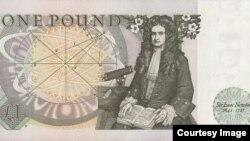 Chân dung Sir Isaac Newton (1643-1727) trên tờ tiền 1 bảng Anh lưu hành từ 1978-1988.