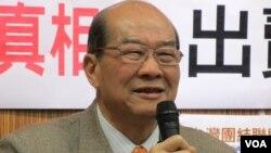 台湾绿营台联党主席 黄昆辉(美国之音张永泰拍摄)