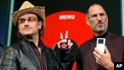 Steve Jobs et le musicien Bono
