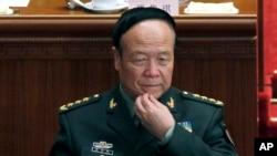 ທ່ານ Guo Boxiong ໃນຂະນະດຳເນີນກອງປະຊຸມ ສະພາປະຊາຊົນແຫ່ງຊາດຈີນ ໃນນະຄອນປັກກິ່ງ.
