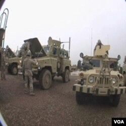 Nova oklopna vozila MRAP ATV u američkoj vojnoj bazi Bagram, na domak Kabula u Afganistanu