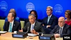 Obama, kao predsjedavajući, na samitu o borbi protiv terorizma, ekstremizma i ISIL-a održanom u sjedištu UN-a