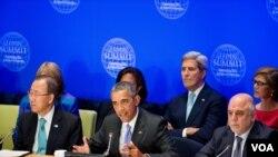 ABŞ prezidenti Barak Obama BMT-nin Baş Assambleyasının sessiyası çərçivəsində İŞİD və Zorakı Ekstremizmə Qarşı Liderlər Sammitinə sədrlik edir