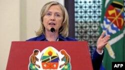 Hilari Klinton na konferenciji za štampu u Dar Es Salamu u Tanzaniji, 13. juni, 2011.