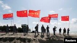 中國陸戰隊參加在俄羅斯舉行的國際陸軍運動會(2019年8月8日)