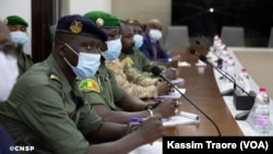 Les militaires maliens en réunion à Bamako, le 31 août 2020.