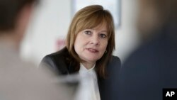 La CEO de General Motors, Mary Barra, testifica este martes ante el Congreso.