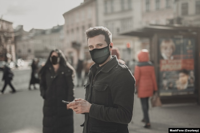 MaskFone, made by Binatone, is a $50 washable mask with a built-in Bluetooth headset.
