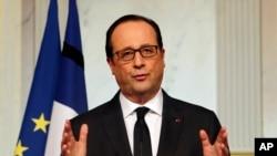 Presiden Perancis Francois Hollande di Istana Elysee, Paris (Foto: dok).
