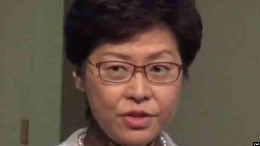 香港特首林鄭月娥為邀請中共官員宣講中共十九大文件辯護